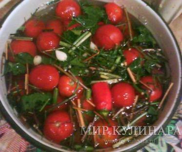 Малосольные помидоры...