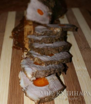Буженина с морковью