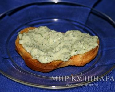 Намазка на хлебные тосты (из брынзы и...